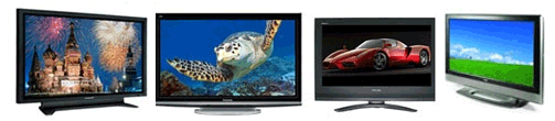 Four Televisions typical of what we repair every day